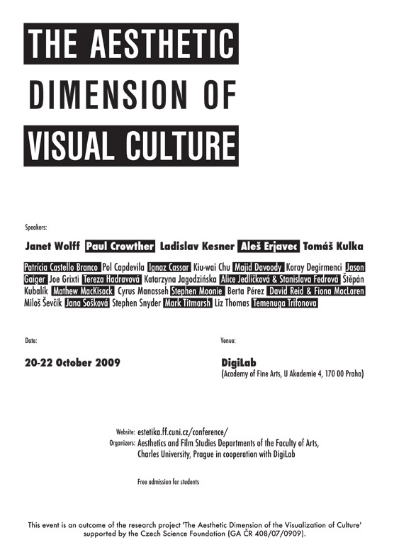 The aesthetic dimension of visual culture